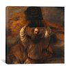 "iCanvasArt ""Moses with The Ten Commandments"" Canvas Wall Art by Rembrandt"