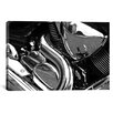 iCanvasArt Cars and Motorcycles 'Engine Grayscale ll' Photographic Print on Canvas