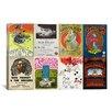 iCanvasArt Pink Floyd, Bob Dylan, Greatful Dead, Bob Marley Concert Poster Vintage Advertisement on Canvas