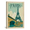 iCanvas 'WT Paris 1001A' by Anderson Design Group Vintage Advertisement on Canvas