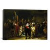 iCanvasArt 'Nightwatch' by Rembrandt Painting Print on Canvas