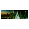 iCanvasArt Panoramic Night Chicago, Illinois Photographic Print on Canvas