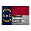 iCanvas North Carolina Flag, Bodie Island Lighthouse Grunge Graphic Art on Canvas