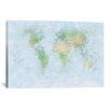 iCanvasArt 'World Map III' by Michael Tompsett Graphic Art on Canvas
