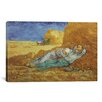 iCanvasArt 'Noon Rest (After Millet) 1889-1890' by Vincent Van Gogh Painting Print on Canvas