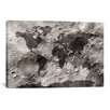 iCanvasArt 'World Map on the Moon's Surface' by Michael Tompsett Graphic Art on Canvas