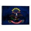 iCanvas North Dakota Flag, Bison Grunge Graphic Art on Canvas