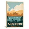 <strong>iCanvasArt</strong> 'San Diego, California' by Anderson Design Group Vintage Advertisement on Canvas
