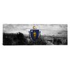 iCanvas Massachusetts Flag, Cape Cod Panoramic Grunge Ocean Graphic Art on Canvas