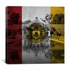 iCanvas San Diego Flag, the Botanical Building in Balboa Park Photographic Print on Canvas
