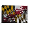 iCanvasArt Maryland Flag, Capitol Building Grunge Graphic Art on Canvas