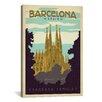 iCanvas 'Sagrada Familia - Barcelona, Spain' by Anderson Design Group Vintage Advertisement on Canvas
