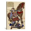iCanvas Samurai and Horse Japanese Woodblock Painting Print on Canvas