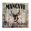 "iCanvas ""Mancave II"" Cancas Wall Art by Mindy Sommers"