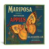 <strong>iCanvasArt</strong> Mariposa Apples Vintage Crate Label Cancas Wall Art