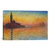"iCanvas ""Saint-Georges Majeur"" Canvas Wall Art by Claude Monet"