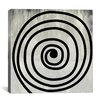 <strong>iCanvasArt</strong> Modern Art Mid Century Modern Swirl Painting Print on Canvas