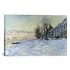 <strong>iCanvasArt</strong> 'Lavacourt Sunshine and Snow' by Claude Monet Painting Print on Canvas