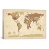 <strong>iCanvasArt</strong> 'Map of The World V' by Michael Tompsett Graphic Art on Canvas