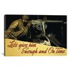 iCanvasArt 'Let's Give Him Enough and on Time' by Norman Rockwell Graphic Art on Canvas