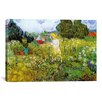 <strong>iCanvasArt</strong> 'Marguerite Gachet in Her Garden' by Vincent Van Gogh Painting Print on Canvas