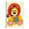 iCanvas Decorative Art 'Little Lion Holding a Square' by Alfredo Graphic Art on Canvas
