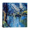 "<strong>iCanvasArt</strong> ""Le Lac Annecy"" Canvas Wall Art by Paul Cezanne"