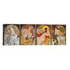 iCanvasArt 'Les Saisons' by Alphonse Mucha Painting Print on Canvas