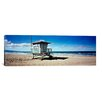 <strong>iCanvasArt</strong> Panoramic 8th St. Lifeguard Station, Manhattan Beach, California Photographic Print on Canvas