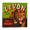 iCanvas Levon California Melons Vintage Crate Label Canvas Wall Art