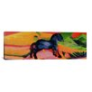 iCanvasArt 'Little Blue Horse' by Franz Marc Painting Print on Canvas