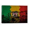 iCanvas Los Angeles, California Flag - Grunge Hollywood Sign Graphic Art on Canvas