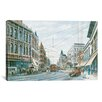 iCanvas 'Looking South of Spring St' by Stanton Manolakas Painting Print on Canvas