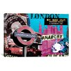 "iCanvasArt ""London #1"" Graphic Art on Canvas by Luz Graphics"