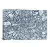 iCanvasArt 'London Map VIII' by Michael Thompsett Graphic Art on Canvas