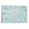 iCanvasArt 'London Map' by Michael Thompsett Graphic Art on Canvas
