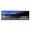 <strong>iCanvasArt</strong> Panoramic Lake Misurina and Tre Cime Di Lavaredo, Veneto, Italy Photographic Print on Canvas