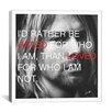 iCanvas Kurt Cobain Quote Canvas Wall Art