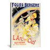 <strong>iCanvasArt</strong> Larc en Ciel (Ballet-Pantomime en Trois Tableaux) Folies - Bergere Vintage Advertisement on Canvas