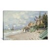 iCanvas 'La Plage a Trouville 1870' by Claude Monet Painting Print on Canvas