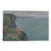 iCanvasArt 'La Mer Vue Des Falaises 1881' by Claude Monet Painting Print on Canvas