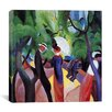 iCanvasArt 'Promenade' by August Macke Painting Print on Canvas