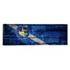 iCanvasArt Las Vegas Flag, Wood Planks with City Skyline Panoramic Graphic Art on Canvas