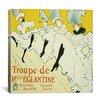 """iCanvas """"La Troupe de Mademoiselle Eglantine"""" Canvas Wall Art by Henri De Toulouse-Lautrec"""
