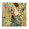 <strong>iCanvasArt</strong> 'Lady with a Fan' by Gustav Klimt Painting Print on Canvas