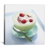 iCanvas Raspberry Yogurt Photographic Canvas Wall Art