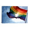 iCanvasArt LGBT Rainbow Flag Gay Pride Photographic Print on Canvas