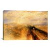 iCanvasArt 'Rain, Steam and Speed (The Great Western Railway) 1844' by Joseph William Turner Painting Print on Canvas