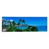 <strong>iCanvasArt</strong> Panoramic Waikiki Beach, Oahu, Hawaii Photographic Print on Canvas