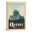 iCanvasArt 'Quebec, Canada' by Anderson Design Group Vintage Advertisement on Canvas